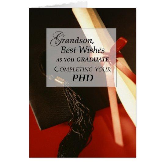 Enkel PHD, Doktorat, Abschluss-Wünsche Grußkarte