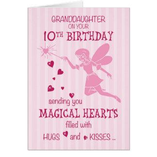 Enkelin-10. Geburtstags-magisches feenhaftes Rosa Karte