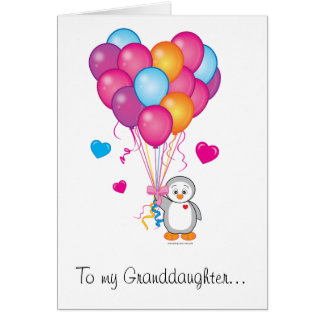 Enkelin-Valentinsgruß Grußkarte