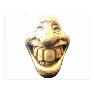 Enormes glückliches Gesicht Postkarte