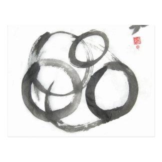 Enso Zen kreist Kunst-Postkarte ein Postkarte