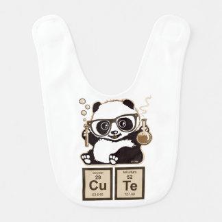 Entdecktes niedliches der Chemie Panda Lätzchen