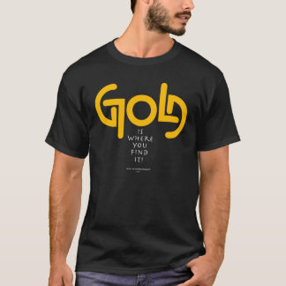 Entdeckungs-Gold Ambigram T-Shirt