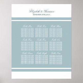 Enten-Ei-blaue moderne Hochzeit Poster