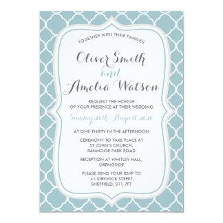 Enten-Ei Quatrefoil Hochzeits-Einladung Karte