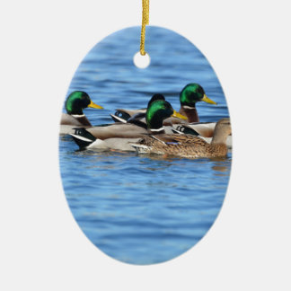 Enten Ovales Keramik Ornament