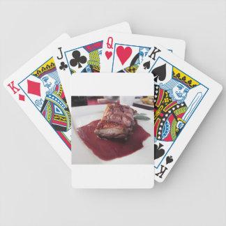 Entenbrust auf Sangiovese Rotweinsoße Bicycle Spielkarten