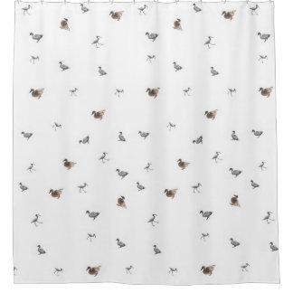 Entencollage auf weißem Hintergrund Duschvorhang
