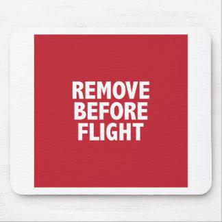 Entfernen Sie vor Flug Mousepads