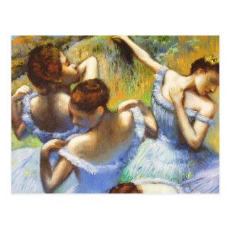 Entgasen Sie blaue Tänzer-Postkarte Postkarte