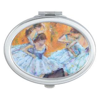 Entgasen Sie inspirierten zusammengepreßten Taschenspiegel