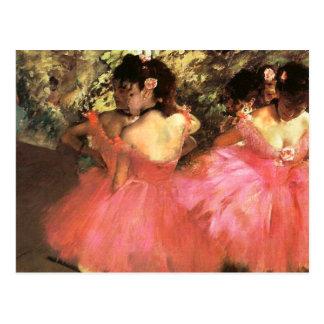 Entgasen Sie Tänzer in der rosa Postkarte