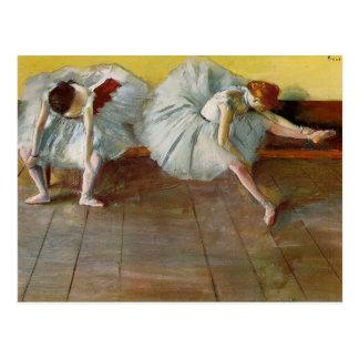 Entgasen Sie zwei die Ballett-Tänzer-Postkarte Postkarte