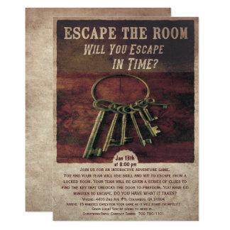 Entgehen Sie der Raum-Einladung 12,7 X 17,8 Cm Einladungskarte