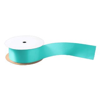 Enthusiastisches Aqua-blaue Türkis-Farbe Satinband