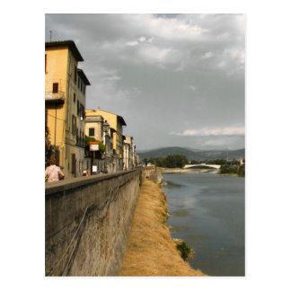 Entlang dem Arno Postkarte