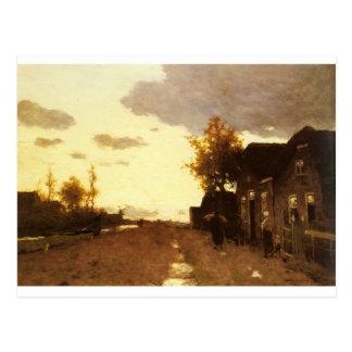 Entlang dem Kanal durch Johan Hendrik Weissenbruch Postkarte