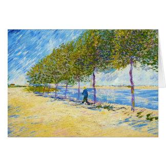 Entlang der Seine durch Vincent van Gogh Karte