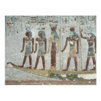 Entlastung, die Khnum in einem Begräbnisbarque Postkarte