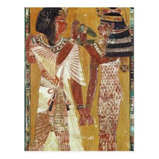 Entlastung, welche die Göttin Hathor Platzierung Postkarte