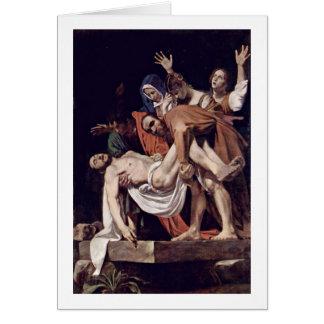 Entombment durch Michelangelo Merisi DA Caravaggio Grußkarte