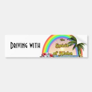 Entraînement avec l'esprit de Aloha Autocollant De Voiture
