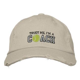 Entraîneur de tennis drôle casquettes brodées