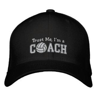 Entraîneur drôle de volleyball chapeaux brodés