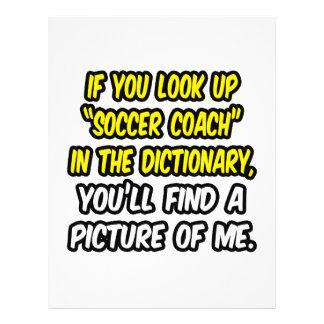 Entraîneur du football en dictionnaire… mon image prospectus