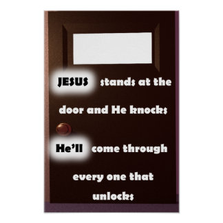 Entriegeln Sie die Tür - Plakat