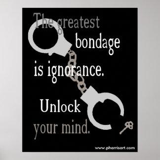 Entriegeln Sie Ihr Sinnes(schwarzes) Plakat