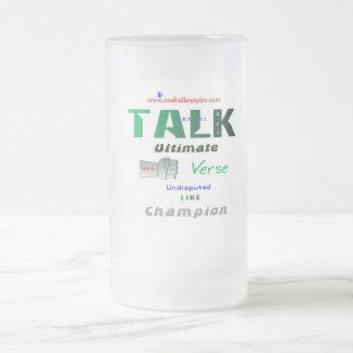 entscheidend - Glas Mattglas Bierglas