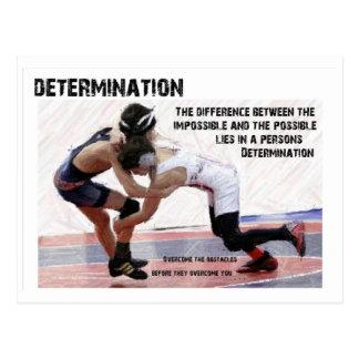 Entschlossenheit Postkarte