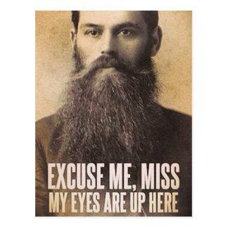 Entschuldigen Sie mich Fräulein, meine Augen sind Postkarte
