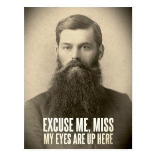 Entschuldigen Sie mich, Verlust; meine Augen sind Postkarte