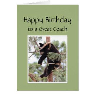 Entspannen Sie sich es ist Ihr Geburtstags-Bär für Karte