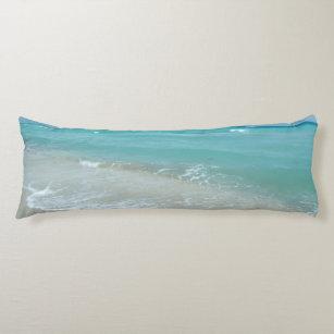 Entspannende blaue seitenschläferkissen
