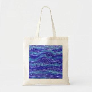 Entspannende blaue Tasche