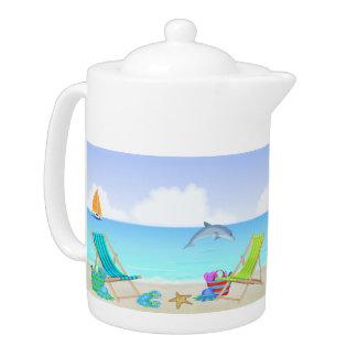 Entspannende Strand-Teekanne