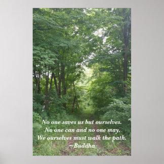 Entspannender Waldweg-inspirierend Plakat