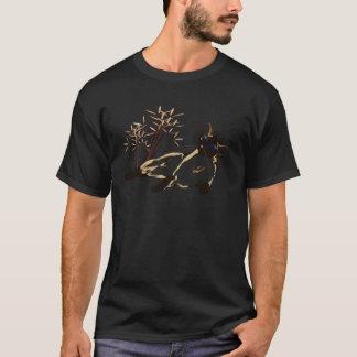 Entspanntes siamesisches mit Blätter-Shirt T-Shirt