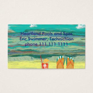 Entspannung am Strand, kundengerecht Visitenkarten