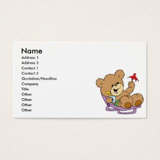 Entspannung auf Ferien-Teddybärentwurf Visitenkarten