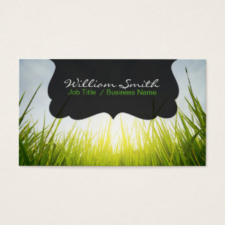 Entspannung calm grass Business card Visitenkarte