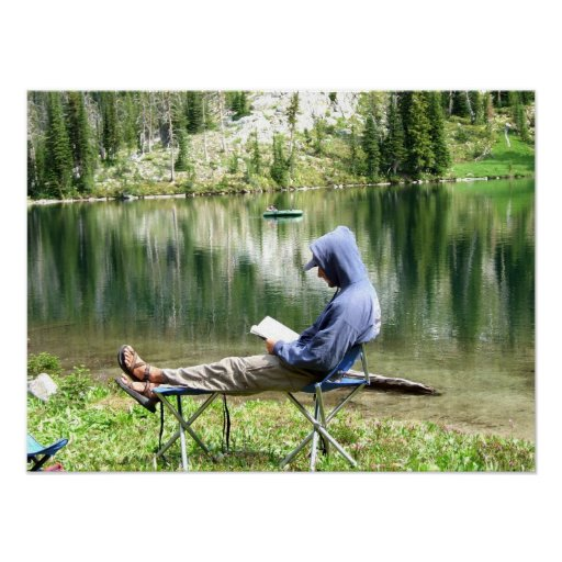 Entspannung in dem Ostgospel See 2 Plakatdruck