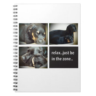 Entspannung mit den Hunden Notizbücher
