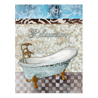 Entspannungs-Badewannen-Postkarte Postkarte