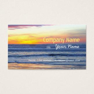 Entspannungs-Strand-elegante Visitenkarten