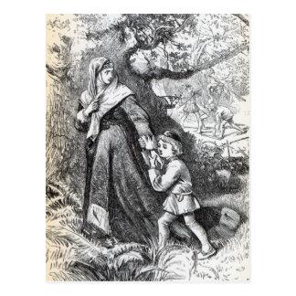 Entweichen der Königin Margaret Postkarte