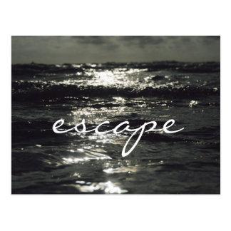 Entweichen-Meerblick Postkarte